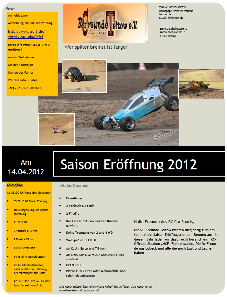 Flyer Teltow 2012